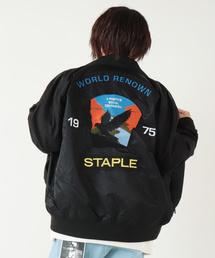 【STAPLE】オリジナルロゴワッペン MA1 ボンバージャケット(MA-1)