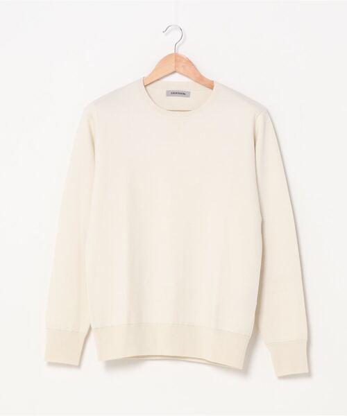 CASHYAGE(カシヤージュ)の「CASHYAGE/カシアージュ/16GG cashmere crew neck knit/16GGカシミアクルーネックニット(ニット/セーター)」|ホワイト