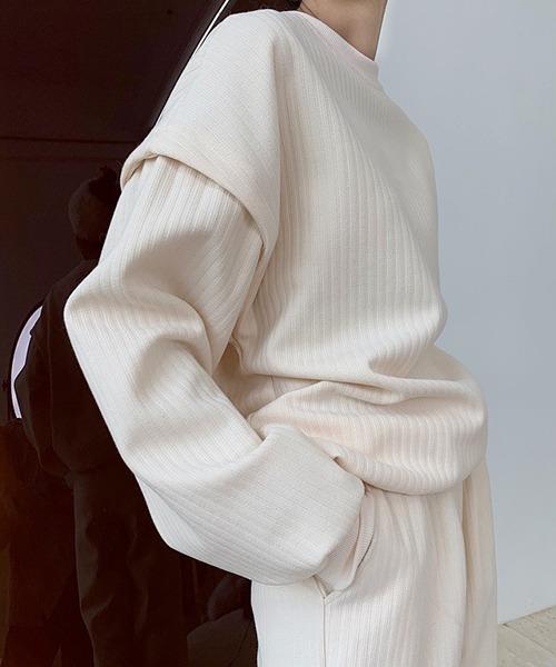 【chuclla】Dropped shoulder design sweat chw1398