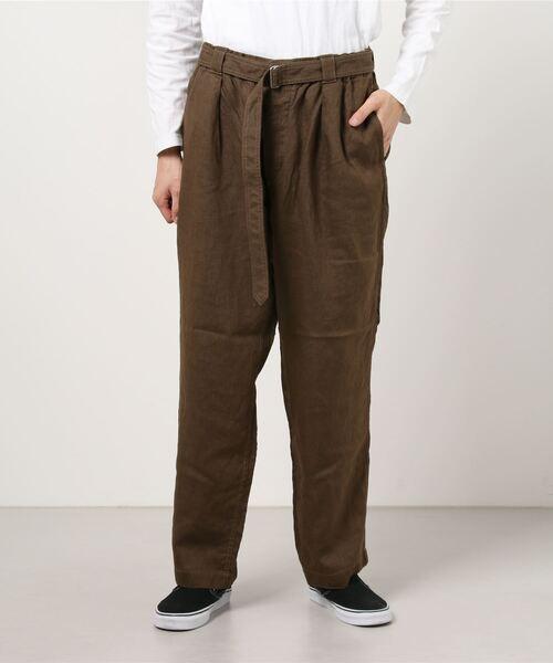 ORCIVAL / リネン ベルト付き パンツ<MEN>