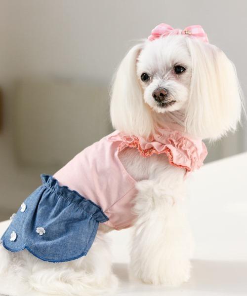 犬と生活/いぬとせいかつ/ミニョンワンピースクール/犬服(ドッグウェア)