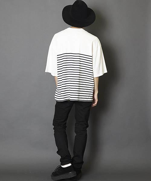 ポケット付きビッグシルエットTシャツ