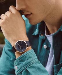 KLASSE14(クラスフォーティーン)の〈KLASSE14/クラス14〉VOLARE DARK ROSE/WHITE ROSE leather ブレスレット付き(腕時計)