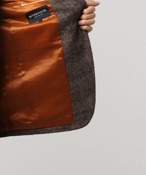 ウールグレンチェックジャケット