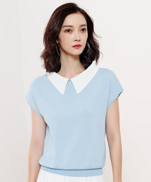 8ade1a3d8e71c レディースのニット セーター(ブルー・ネイビー 青色系)ファッション ...