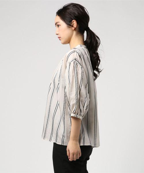 【LE GLAZIK】ギャザーネックシャツ NAL WOMEN