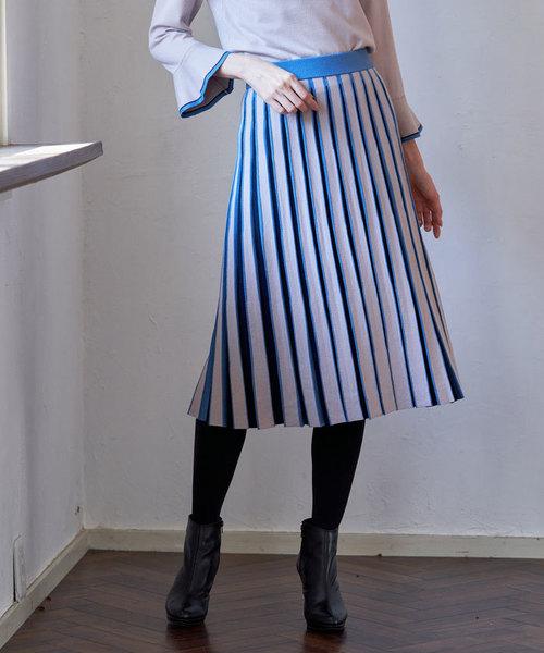 【オープニング大セール】 レーヨンポリエステルストライプ スカート(ニット/セーター)|ANAYI(アナイ)のファッション通販, ぐっすり快眠ネットショップ:97ffde4b --- wm2018-infos.de