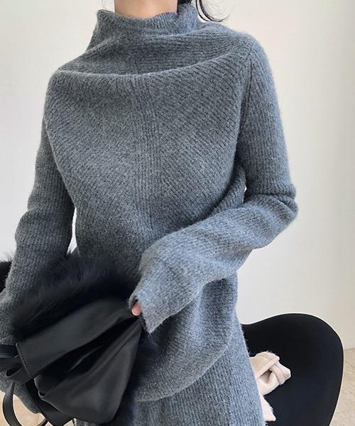 【chuclla】Deformation knit chw1399