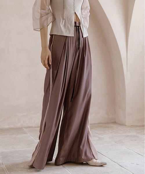 【MURMURMI】High waist drape trousers volume pants chw21a009