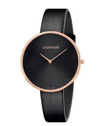 CALVIN KLEIN WATCHES+JEWELRY(カルバン・クライン ウォッチ&ジュエリー)の[カルバンクライン] CALVIN KLEIN 腕時計 Full Moon(フルムーン) 2針 ピンクゴールド×ブラック(腕時計)