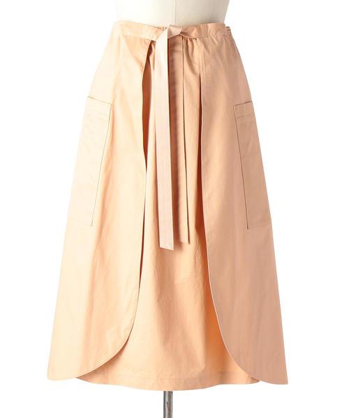 Drawer コットンラップスカート