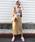 AZUL ENCANTO(アズールエンカント)の「【洗濯機で洗える】【消臭効果】パッチポケットIラインスカート(スカート)」|ベージュ