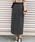 AZUL ENCANTO(アズールエンカント)の「【洗濯機で洗える】【消臭効果】パッチポケットIラインスカート(スカート)」|グレー