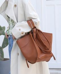 【chuclla】3way trapezoid shoulder bag cha80ブラウン