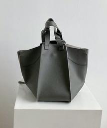 【chuclla】3way trapezoid shoulder bag cha80ダークグレー