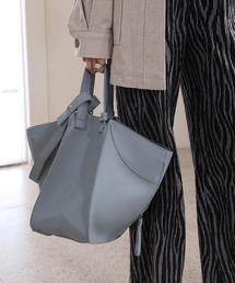 【chuclla】3way trapezoid shoulder bag cha80ブルーグレー