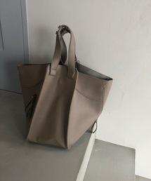 【chuclla】3way trapezoid shoulder bag cha80モカ