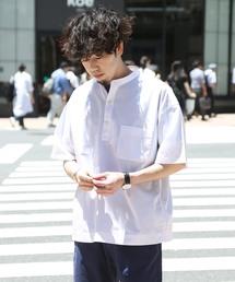 koe(コエ)のバンドカラーブロードプルオーバーシャツ(シャツ/ブラウス)