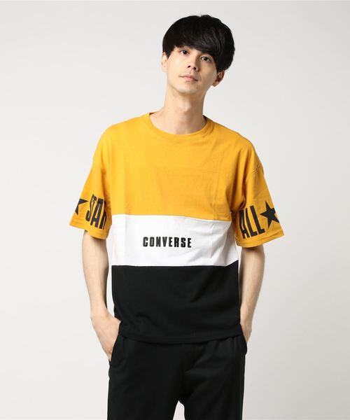 ∴WEGO/CONVERSE別注切替Tシャツ