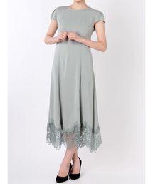 659e2cd7db876 LAGUNAMOON(ラグナムーン)の「LADY カッティングヘムフレースワンピース(ドレス)」