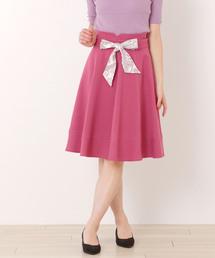 MISCH MASCH(ミッシュマッシュ)のスカーフリボンハギフレアスカート(スカート)