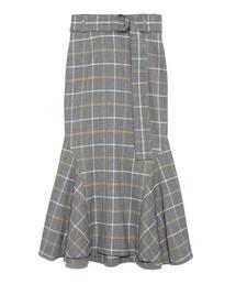 SNIDEL(スナイデル)のチェックマーメイドスカート(スカート)