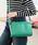 夢展望(ユメテンボウ)の「カラバリゴールドポイントスクエアショルダーバッグ(ショルダーバッグ)」|グリーン