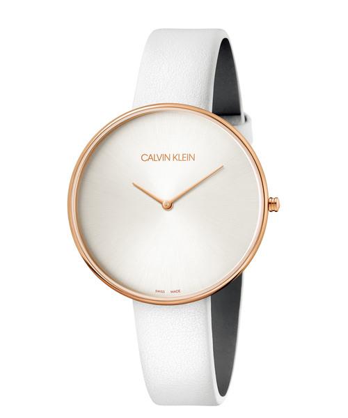 [カルバンクライン] CALVIN KLEIN 腕時計 Full Moon(フルムーン) 2針 ピンクゴールド×シルバー