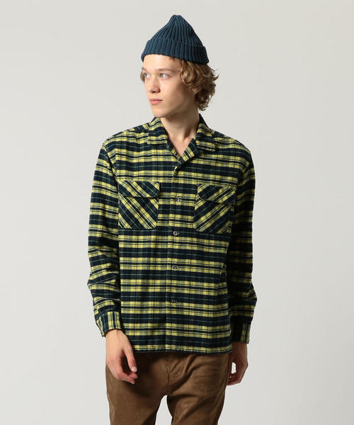 UNITED ARROWS & SONS(ユナイテッドアローズ&サンズ)COL NEL CHECK OPEN SHIRT