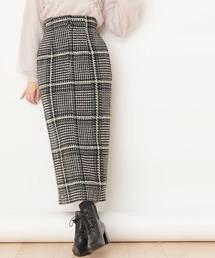 【美人百花/CanCam掲載】チェックタイトロングスカート(スカート)