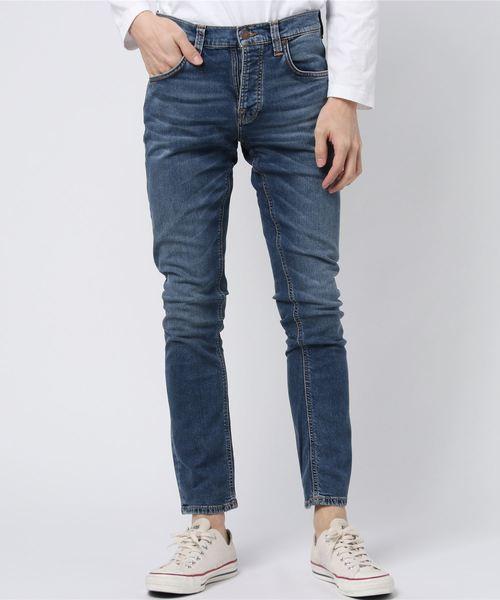 Nudie Jeans(ヌーディージーンズ)の「Grim Tim / Mid Blue Indigo(デニムパンツ)」|インディゴブルー