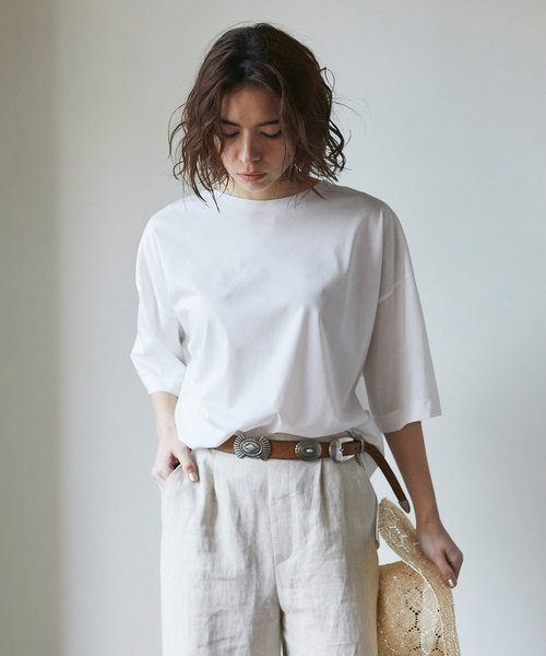 GALLARDAGALANTE(ガリャルダガランテ)の「ライトクールオーバーTシャツ(Tシャツ/カットソー)」|ホワイト