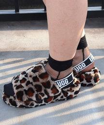 UGG(アグ)のUGG Fluff Yeah Slide Leopard (AMPHORA)(サンダル)