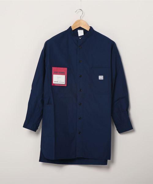 【 MONT KEMMEL / モンケメル 】BAND COLLAR SHIRTS バンドカラー シャツ スタンドカラーシャツ