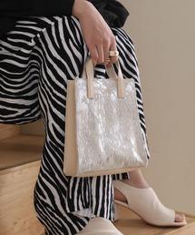 【chuclla】Leather square bag cb-2 chas1ベージュ系その他