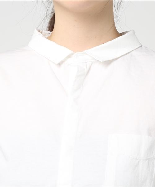 quadro(クオドロ)の「コンパクトクールローレル天竺9分袖シャツ(シャツ/ブラウス)」|詳細画像