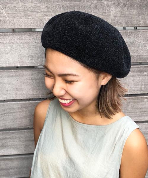polcadot(ポルカドット)の「モールベレー(ハンチング/ベレー帽)」 ブラック