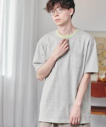 ヘビーウェイト ビッグシルエット USAコットン プルオーバー 無地T トップス Tシャツ (1/2 sleeve)グレー