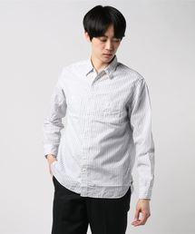 BEAMS PLUS(ビームスプラス)のBEAMS PLUS / 綿麻 ストライプ ワークシャツ(シャツ/ブラウス)