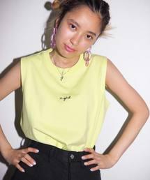 X-girl(エックスガール)のCURSIVE LOGO TANK TOP(タンクトップ)