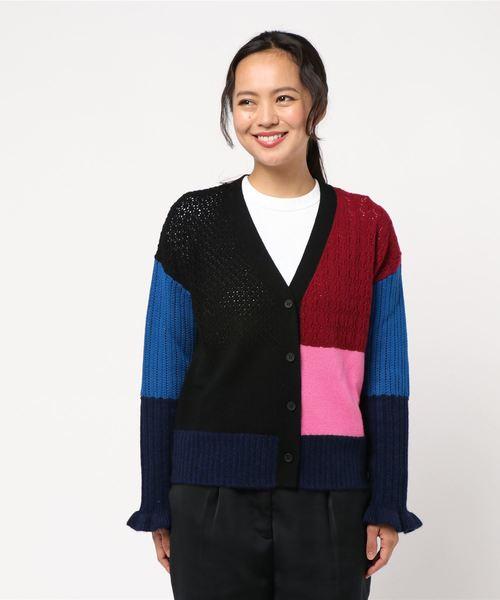 【後払い手数料無料】 Wool Cash Vee Cash Colorblock Vee Colorblock Cardigan(カーディガン) KENZO(ケンゾー)のファッション通販, PROJECT CORE:d27ae2e0 --- bioscan.ch