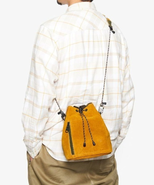 AS2OV(アッソブ)の「AS2OV (アッソブ)  WATER PROOF SUEDE  DRAWSTRING BAG / 巾着 バッグ(ボディバッグ/ウエストポーチ)」|詳細画像