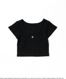 【MLB】ワンポイントロゴリブちびTシャツブラック
