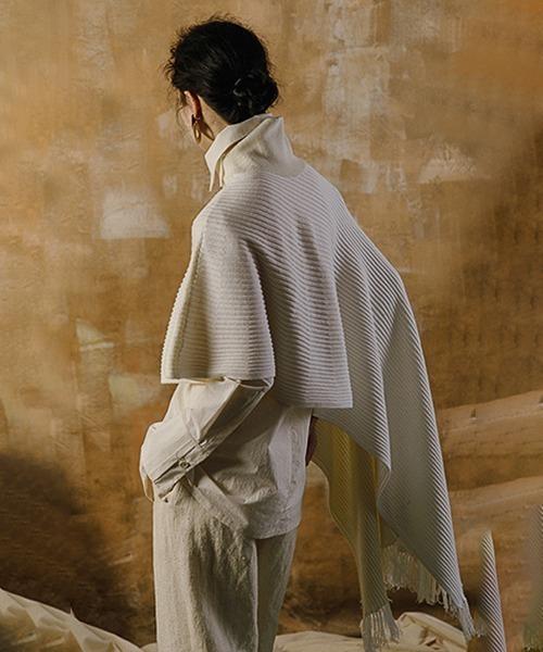 【MURMURMI】Oversized wool knitted shawl chw21a013