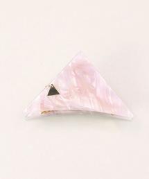 ヘアアクセサリー(ヘアアクセサリー)の「三角 バンスクリップ 小さめサイズ(バレッタ/ヘアクリップ)」