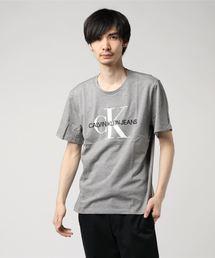 【CALVIN KLEIN JEANS】モノグラム CK ロゴ Tシャツ(Tシャツ/カットソー)