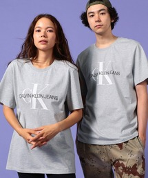 【CALVIN KLEIN JEANS】モノグラム CK ロゴ Tシャツ(Tシャツ/カットソー)