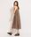 INTER FACTORY(インターファクトリー)の「ファッションインフルエンサー eriko × INTER FACTORY リネンノースリーブワンピース(ワンピース)」|モカ