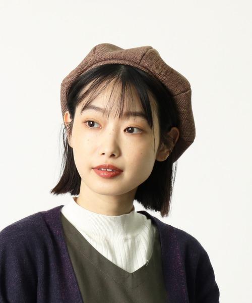:リネン風ベレー帽