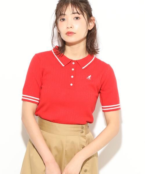 KANGOL(カンゴール)の「【KANGOL×ViS】ワイドリブポロ(ポロシャツ)」|レッド系その他